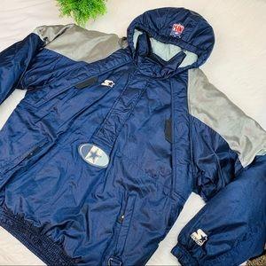 Cowboys Starter Jacket Pullover NFL Coat Vintage